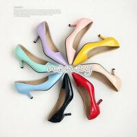 Plus Size Women's Pointy Toe OL Kitten Heels Shoes Slip On Wedding Shoes Pumps