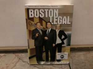 Boston Legal - Season 3 (DVD, 2009, 7-Disc Set) NEW-SEALED