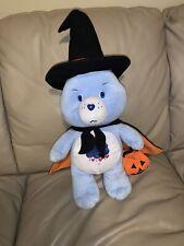 "2007 American Greetings Nanco Halloween Care Bear Grumpy Witch  21"" Plush"
