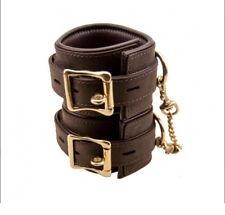 BOUND Nubuck Leather Wrist Cuffs Sensual Desire Premium Erotic Restraints