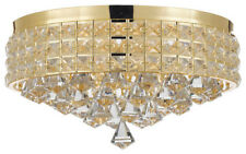 Flush Mount French Empire Crystal Chandelier Crystal, Gold
