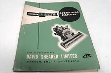 1970s ?  SHEARER XP88 HEADER Factory Instructions & Parts List