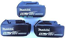 (3) New Genuine Makita 18V BL1850B 5.0 AH Batteries LED Gauge 18 Volt LXT