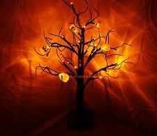 Halloween 24 Orange LED Light Up Pumpkin Tree Party Prop TABLE- WINDOW-DECOR
