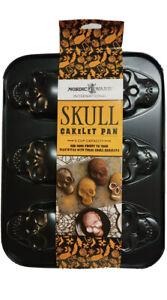 Nordic Ware Halloween 6-Cavity Skull Skeleton Cakelet Pan Nonstick Bakeware 2021