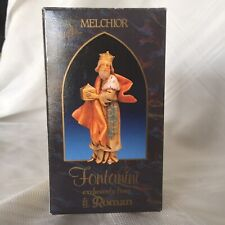 Fontanini Heirloom Nativity Melchior King Model #72514, New In Box W/ Story Card