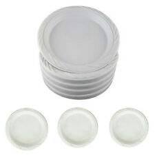 """100 Plastic Party Plates White Disposable Wedding Dinner Dessert 6"""" Dishes NEW"""