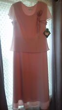 NEW Miss Dorby Short Sleeve Elegant 10P Pink Mother Of The Bride Gown