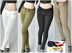 "1/6 female skinny jeans pants tights for 12"" figure phicen hot toys poptoys❶USA❶"