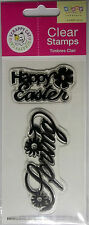 Happy Easter  Spring  Clear Acrylic Stamps Scrappy Cat NIP