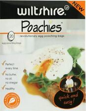 NEW WILTSHIRE POACHIES EGG POACHING BAGS PACK OF 20 PC NON STICK BIODEGRADABLE