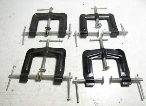 """4 - 3 Way Edge """"C"""" Clamps  --  Open to 2 1/2"""" x 2"""" Deep"""