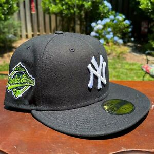 New Era SportsWorld NY Yankees Electric Green 1996 WS 59FIFTY Fitted Hat 7 3/4
