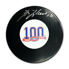Guy Lafleur Signed Hockey Puck - Canadiens Centennial - Montreal 100 Seasons