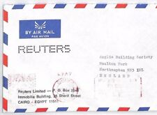 BT101 Egypt Cairo Commercial REUTERS NEWS AGENCY Air Mail Cover {samwells}PTS