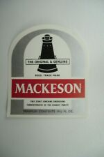 MINT MACKESON  RED BREWERY BEER BOTTLE LABEL