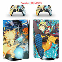 Naruto Vinyl Skin Decal Sticker for Sony PS5 Console Controllers Disc Version