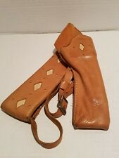VINTAGE HAND CRAFTED REVOLVER SHOULDER HOLSTER .22 AND CAP AND BALL