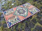 Decor rug, Organic vintage rug, %100 wool handmade, Turkish rug | 1,5 x 2,4 ft