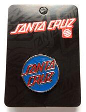 Santa Cruz Pin Classic Push Back Pin skateboard bmx skate board sk8 new blue/red