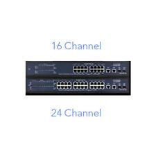 16IP PoE Switch Camera Power Network Managed w/ 2 GB UL Ports mac-poe-16p2swm
