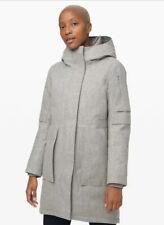✨NWT✨ Lululemon Winter Warrior Parka* Wool Size 8 Heathered Silver Graphite $598