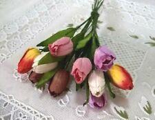 20 Tulip Mix Color Mulberry Paper Flower Crafts Embellishment Scrapbook Card 1.8