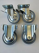 "set of 4 5"" heavy duty casters with brakes"