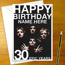 QUEEN Personalised Birthday Card - A5 british rock freddie mercury personalized