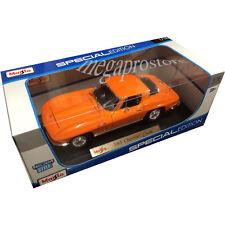 Maisto 1965 Chevy Corvette Stingray 1:18 Diecast Model Car Orange