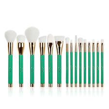 Jessup 15Pcs Powder Brow Eye Makeup Brushes Foundation Make Up Brush Set Green