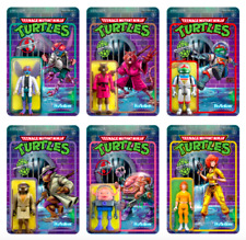 Super 7 TMNT Reaction Figures Wave 2 Complete Set!!! (NEW)