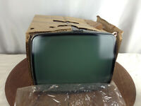 "NOS - Zenith CRT Model # DJ12Nk4 -  12"" Diagonal Green Video Display #WH-9"