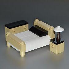 LEGO Furniture: Tan Bedroom Set - with Bed, Dresser, Nightstand & Lamp  [lots]