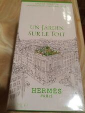 UN JARDIN SUR LE TOIT BY HERMES EAU DE TOILETTE Spray 1.6 oz / 50ML Sealed NIB