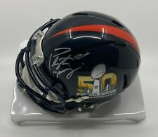 Peyton Manning Signed Broncos Super Bowl 50 Mini Helmet Autographed STEINER COA