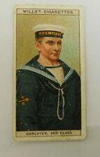 Cigarette Tobacco Card Wills Naval Dress & Badges 1909 #42 Gunlayer 3rd Class