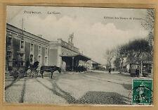 Cpa Perpignan - la gare édition des Dames de France wn0864