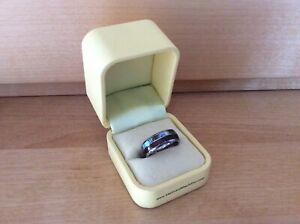 Martin&MacArthur Eternity Ring Paua Muschel Wolfram Tungsten