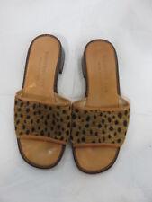 Stubbs & Wootton leopard print mules slides size 5.5