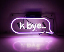TN100 Purple 'k bye' Home Wall Display Decor Neon Light Sign LED Lamp 14x6