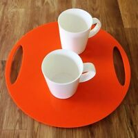 "Round Flat Serving Tray - Orange Acrylic, 3mm Thick, 32cm 12.5"" Diameter"