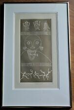 "Framed Embossed Ltd. Ed. 107/150 Print Signed M. Muleine - Titled ""Carnival"""