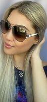 New FENDI FF 0018/S 7SGQH 60mm Silver White Designer Women's Sunglasses Italy