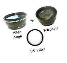 Wide Lens + Tele + UV for Samsung HMX-H200BN HMX-H200SN HMX-H200LN HMX-H200RN
