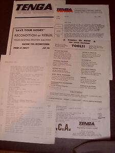 Tenga Engineering Leaflet And Paperwork - As Photo