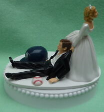Wedding Cake Topper Detroit Tigers Baseball Themed Funny Sporty Groom Bride Fans