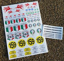 Rc Vintage Estilo « Carrera Panamericana » carrera de carretera 10 Escala Calcomanías Stickers