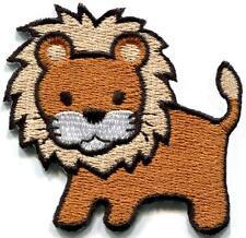 Lion cat puma jaguar tiger cheetah animal cute kids applique iron-on patch S-825
