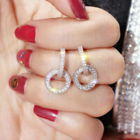 Fashion 925 Silver Hoop Earring for Women Jewelry Gift for Sweetheart A Pair/set